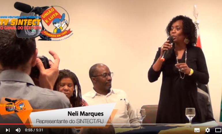 Video – Neli (SINTECT/RJ) na Posse dos Delegados Sindicais e da nova diretoria do SINTECT/SP