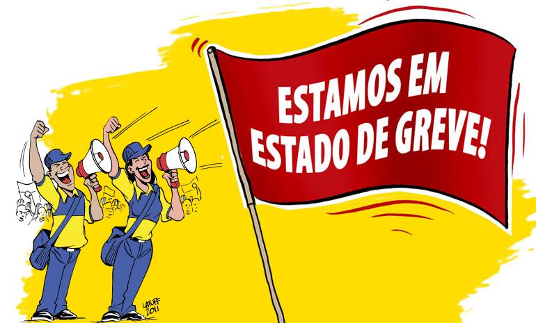 Trabalhadores dos Correios estão em Estado de Greve contra os ataques aos direitos