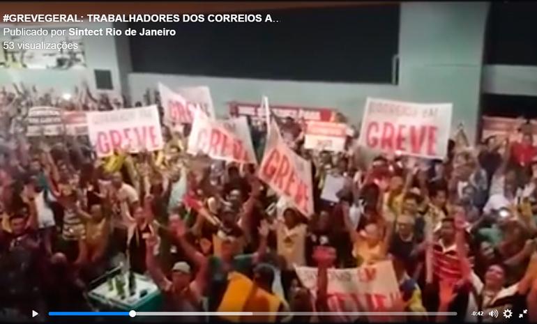 CORREIOS EM GREVE! BRASIL EM GREVE!