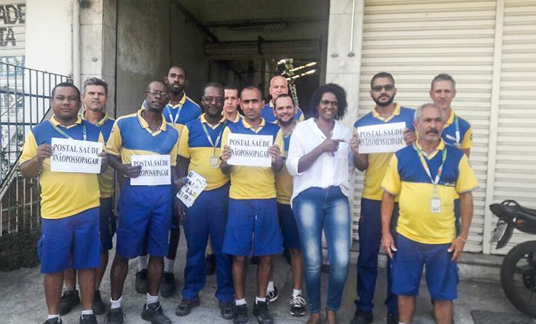 #SINTECTRJNABASE – POSTAL SAÚDE: Trabalhadores dizem não à cobrança da mensalidade