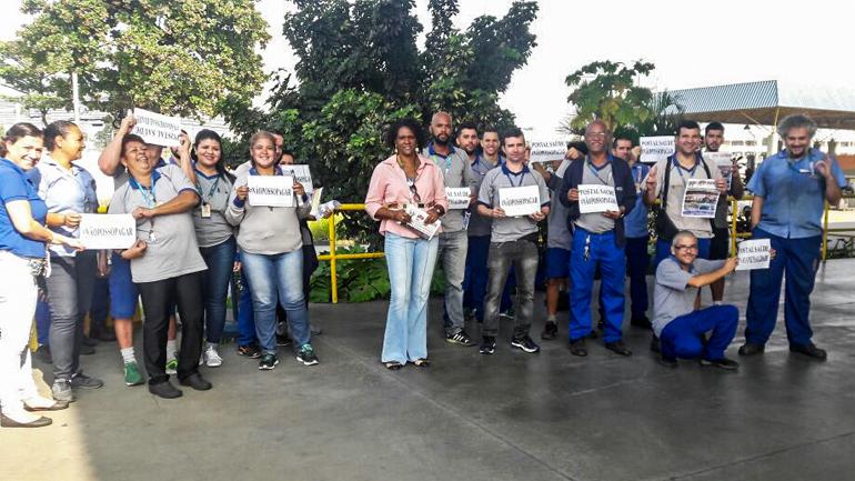#SINTECTRJNABASE – CTE Benfica na luta contra a cobrança de mensalidade no Postal Saúde