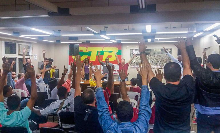 Trabalhadores aprovam GREVE na assembleia de 29/06/2017
