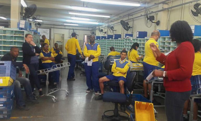 SINTECT-RJ NA BASE: Trabalhadores conscientes e unidos na luta por direitos