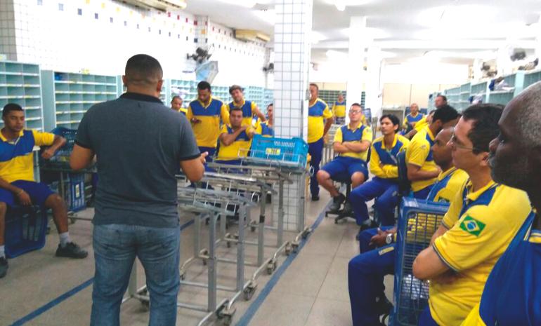 SINTECT-RJ NA BASE: CDD Parque São Vicente recebe visita do sindicato
