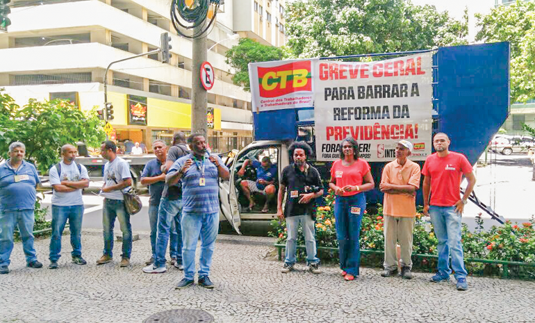 Mobilização nacional unificada contra a Reforma da Previdência! Se votar, não volta!