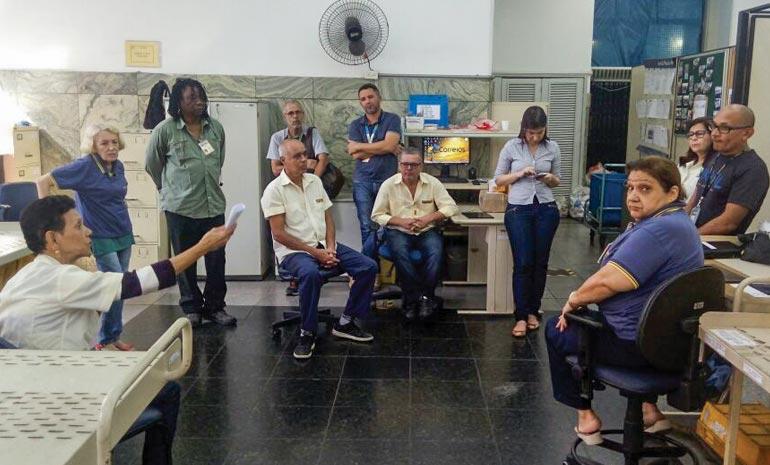 SINTECT-RJ NA BASE: Conscientização e mobilização para mudar a situação