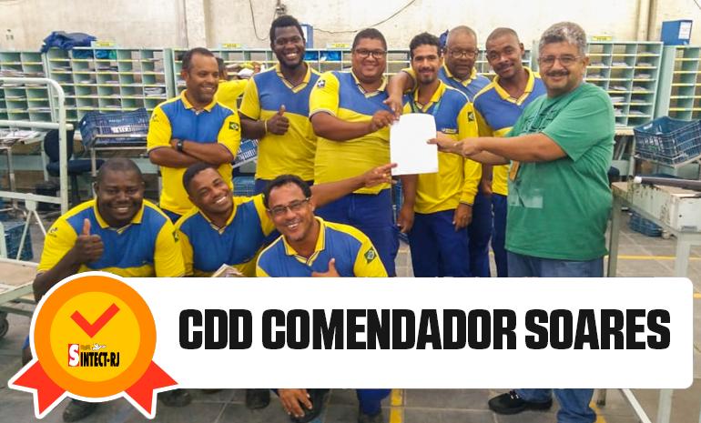 VITÓRIA DO SINTECT-RJ NO PAGAMENTO DO DIFERENCIAL DE MERCADO: CDD Comendador Soares