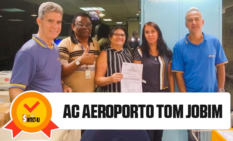 VITÓRIA DO SINTECT-RJ NO PAGAMENTO DO DIFERENCIAL DE MERCADO: AC AEROPORTO TOM JOBIM