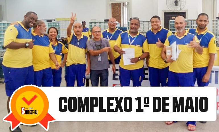 VITÓRIA DO SINTECT-RJ NO PAGAMENTO DO DIFERENCIAL DE MERCADO: COMPLEXO 1º DE MAIO
