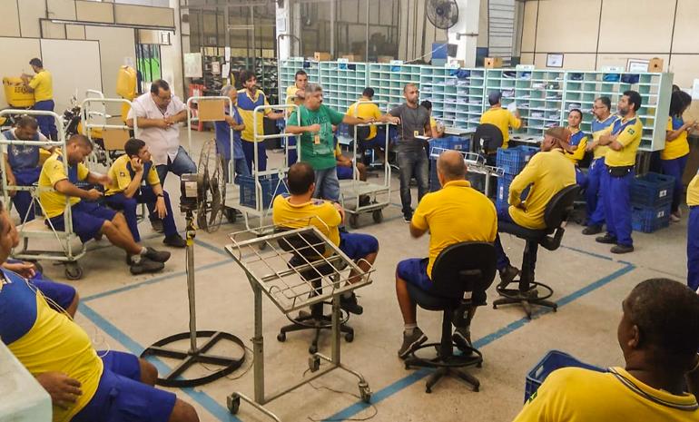 SINTECT/RJ mobiliza os trabalhadores em reuniões setoriais na Baixada Fluminense
