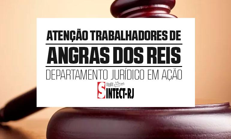 Vitória do Jurídico do SINTECT-RJ beneficia 65 trabalhadores do CDD e AC de Angras dos Reis