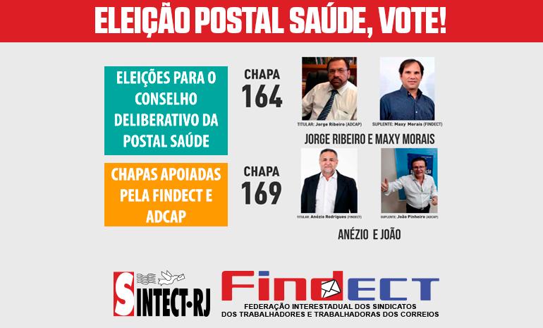 ATENÇÃO COMPANHEIROS – Ainda dá tempo de registrar o seu voto nas Eleições do Conselho Deliberativo da Postal Saúde!