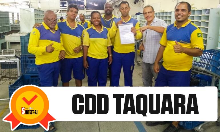 VITÓRIA DO SINTECT-RJ NO PAGAMENTO DO DIFERENCIAL DE MERCADO: CDD Taquara