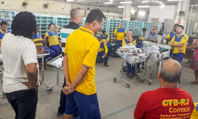 SINTECT/RJ mobiliza os trabalhadores em reunião setorial no Cdd Itaboraí