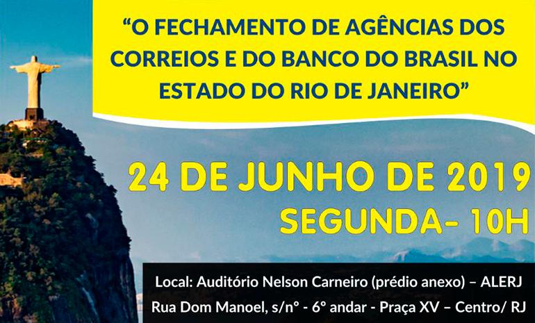 Fechamento de agências e ameaça de privatização dos Correios será debatida em audiência pública