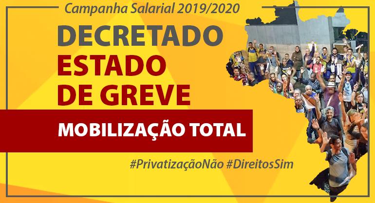 Trabalhadores do RJ rejeitam proposta da ECT e estado de greve é aprovado