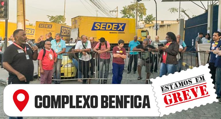 SINTECT-RJ INICIA GREVE COM GRANDE ATO NO COMPLEXO BENFICA