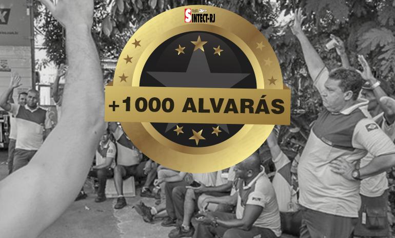 Vitória e Recorde: Sintect-RJ entrega alvará n° 1000 da ação do diferencial de mercado