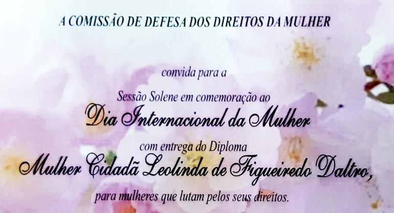 Diploma 'Mulher Cidadã' será entregue nesta segunda-feira na Alerj