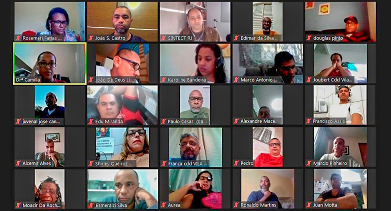 Plenária virtual da FINDECT unifica e fortalece a luta dos trabalhadores do RJ