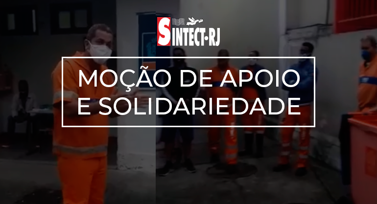 SINTECT-RJ divulga moção de apoio a gari suspenso por denunciar condições precárias de trabalho