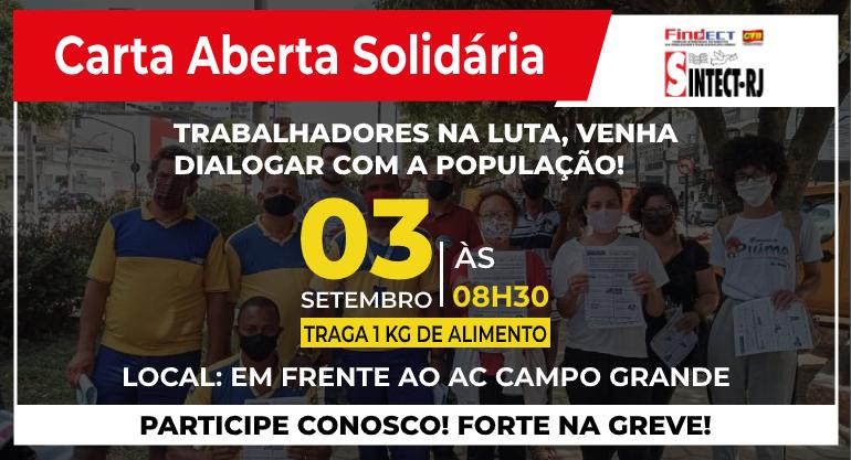 GREVE FORTE É GREVE SOLIDÁRIA!