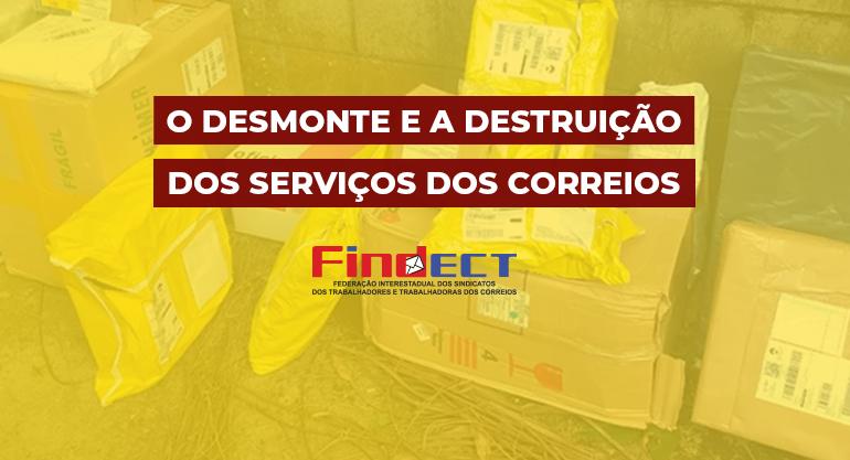Terceirização avança na ECT e Governo Bolsonaro quer derrubar credibilidade do serviço