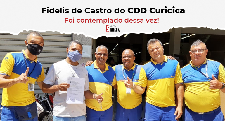 Trabalhador do CDD Curicica recebe alvará de ação vitoriosa do diferencial de mercado
