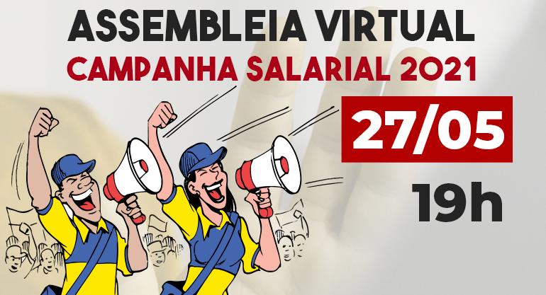 ASSEMBLEIA VIRTUAL DE APROVAÇÃO DE PAUTA DO SINTECT-RJ DA CAMPANHA SALARIAL 2021