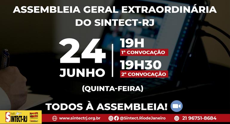 ASSEMBLEIA GERAL EXTRAODINÁRIA DO SINTECT-RJ