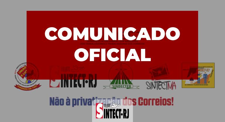 COMUNICADO OFICIAL DOS SINDICATOS FILIADOS À FINDECT AO POVO BRASILEIRO