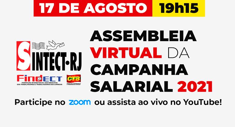 Assembleia Geral Extraordinária do Sintect-RJ