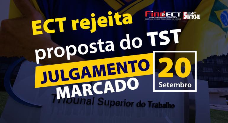 Correios rejeita proposta do TST, propõe retrocessos e Ministro marca julgamento